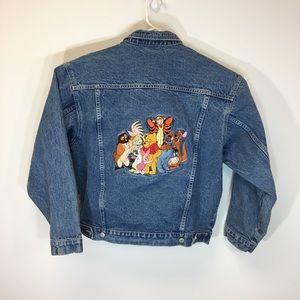 Vintage Winnie the Pooh Acid Wash Jean Jacket Med